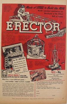 Erector Set number 8,  Ad 1949