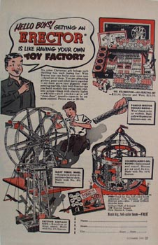 Erector Construction Toy Factors Ad 1951