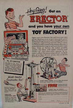 Erector Construction Toy Hello Gang Ad 1952