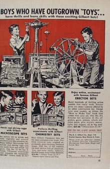 Erector Const Set Boys Outgrown Toys Ad 1956