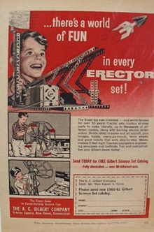Erector Constr Toy World of Fun Ad 1960.