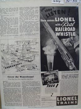 Lionel Trains Railroad Whistle Ad 1935