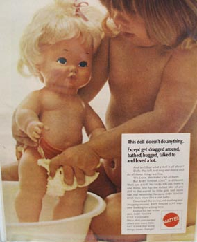 Mattel Baby Tender Love Bathing Ad 1970