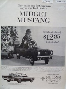 Midget Mustang Toy Christmas Ad 1964