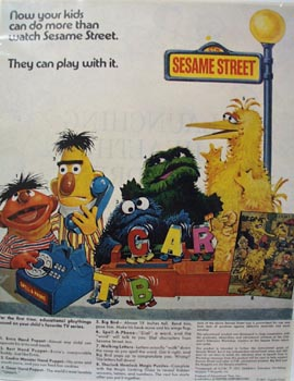 Sesame Street Toys Christmas Ad 1971