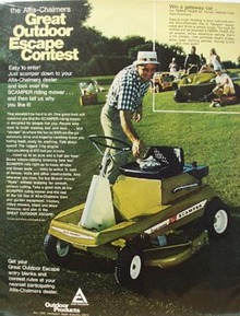 Allis-Chalmers Outdoor Escape Contest Ad 1970