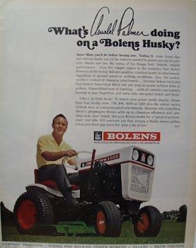 Bolens Lawn Mower Arnold Palmer Ad 1967
