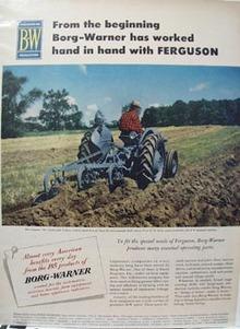 Borg Warner - Ferguson Tractor Ad 1952