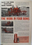 Case Tractor in Four Rows Ad 1950