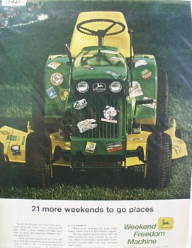 John Deere Gives 21 More Weekends Ad 1969