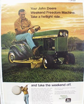 John Deere Twilight Ride Ad 1971