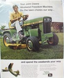 John Deere Do Lawn Chores Our Way Ad 1971