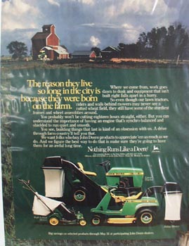 John Deere Born On The Farm Ad 1982