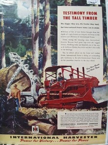 International Harvester Tall Timber Ad 1945