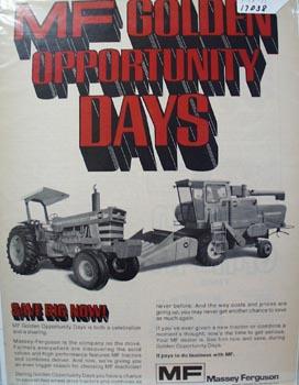 Massey Ferguson Opportunity Days Ad 1971