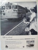 Asphalt Highway & School Bus Ad 1957