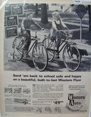 Western Auto Send To School Bike Ad 1963