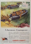 Chris-Craft Liberators Courageous Ad 1952