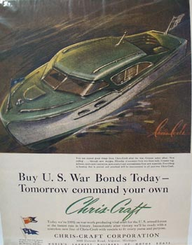 Chris-Craft Command Your Own Boat Ad 1943