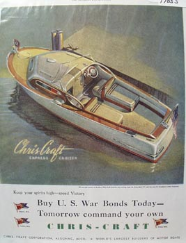 Chris-Craft Express Cruiser Ad 1943