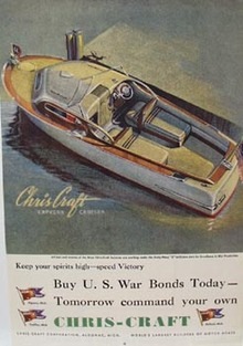 Chris-Craft Express Cruiser Ad 1944