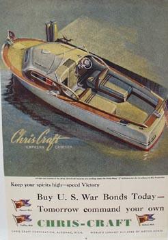 Chris-Craft Express Cruiser Ad 1944