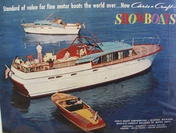 Chris-Craft Standard of Value Showboat Ad 1957