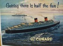 Cunyard Steamship Getting There Ad 1954