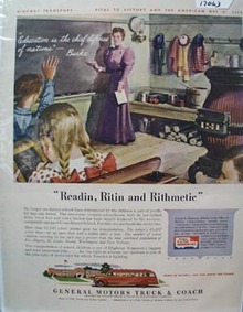 General Motors Truck Reading & Riting ad 1943
