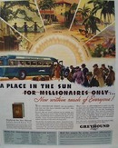 Greyhound Place in The Sun Ad 1934