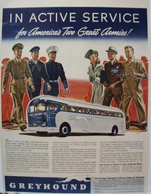 Greyhound In Active Service Ad 1942
