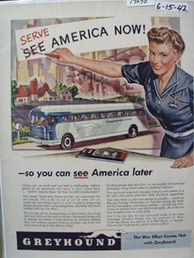 Greyhound Serve American Now Ad 1942