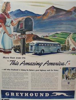 Greyhound Amazing America Ad 1943