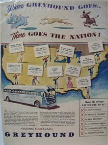 Greyhound There Goes Nation Ad 1948