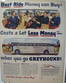Greyhound Best Ride Money Can Buy Ad 1950
