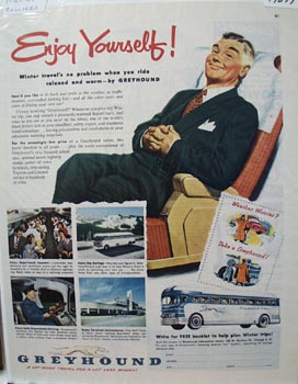 Greyhound Enjoy Yourself Ad 1951