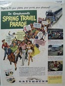 Greyhound Spring Travel Parade Ad 1951