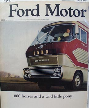 Ford Truck 600 Horses Gas Turbine Ad 1965