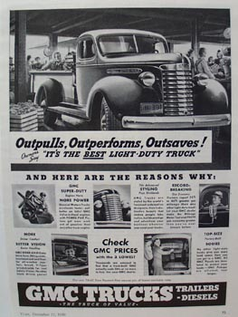 GMC Truck Outperforms Ad 1939