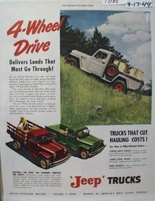 Jeep Trucks Must Go Through Ad 1949