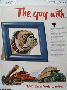 Mack Truck Guy With One Rival Ad 1951