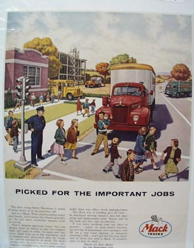 Mack Truck Picked For Important Jobs Ad 1955