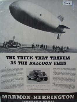 Marmon-Herrington Truck As Balloon Flies Ad 1941