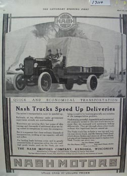 Nash Trucks Speed up Deliveries Ad 1918