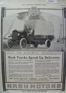 Nash Trucks Speed up Deliveries Ad 1918