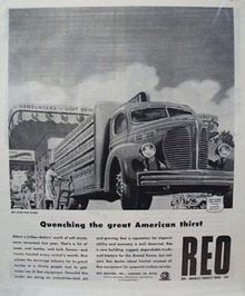 Reo Trucks Quenching American Thirst Ad 1945