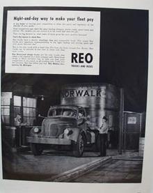 Reo Trucks Night & Day Ad 1948