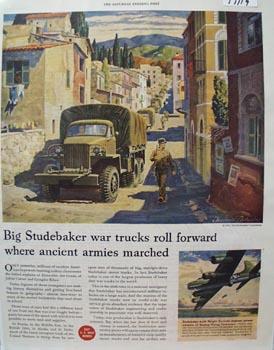Studebaker War Trucks Roll Forward Ad 1944