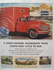 Studebaker Truck  Cost Little to Run Ad 1952