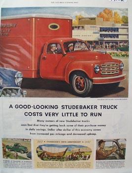 Studebaker Truck  Cost Little to Run Ad 1952